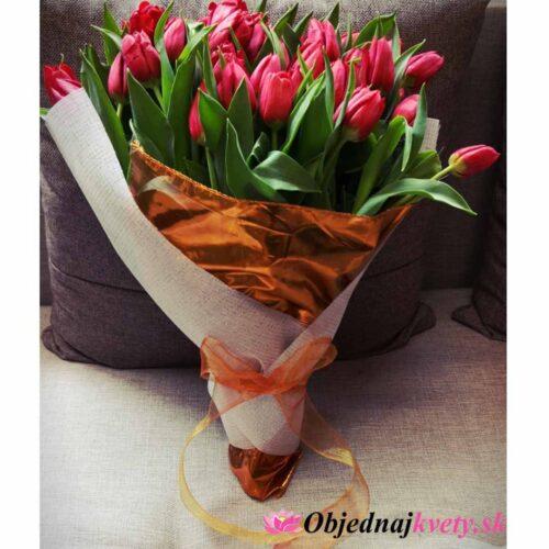 červené tulipany