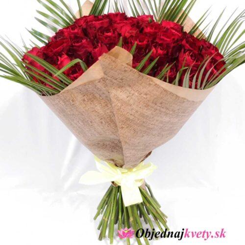 červené ruže 51 kusov