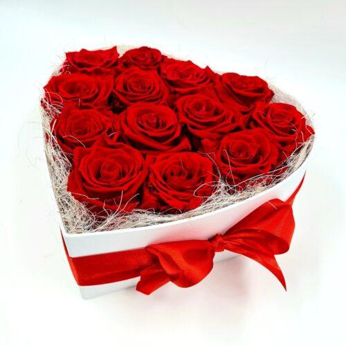 stabilizované ruže v boxe
