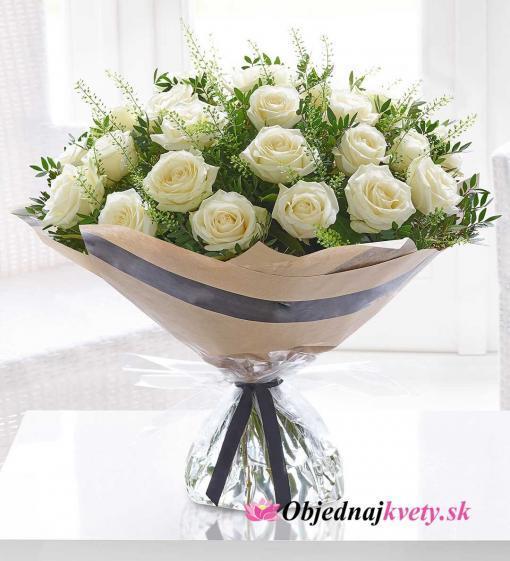 kytica 25 bielych ruzi