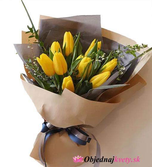 zlte tulipany