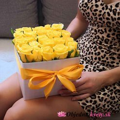 kvetinovy box žlte ruže