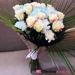 kytica biele ruže donaska