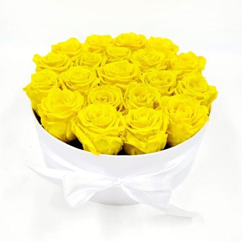 Žlté stabilizované ruže